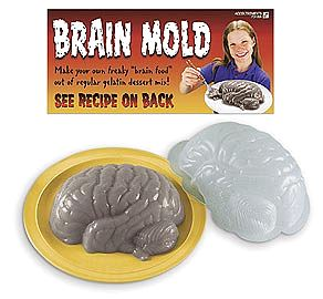 Brain shaped Jello form