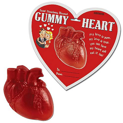 Anatomically correct gummy heart candy