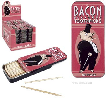 Bacon flavoured toothpicks