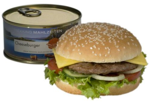 Canned cheeseburger - a true burger takeaway